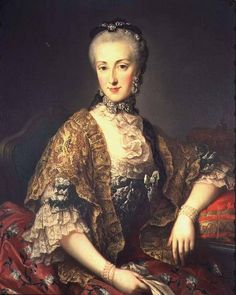 Archduchess Maria Anna of Austria, daughter of Empress Maria Theresa de Austria and Francis I de Lorena