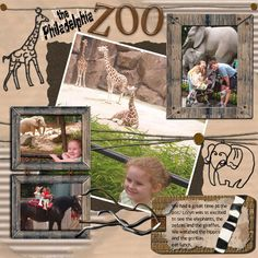 zoo scrapbook page layouts | define rencontres learn to be great for scrapbook zoo description