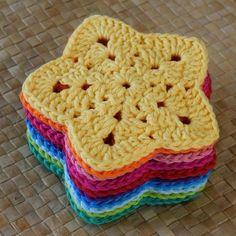 Transcendent Crochet a Solid Granny Square Ideas. Inconceivable Crochet a Solid Granny Square Ideas. Motifs Granny Square, Crochet Motifs, Granny Square Crochet Pattern, Crochet Patterns, Granny Squares, Granny Square Projects, Doily Patterns, Crochet Coaster Pattern Free, Crochet Granny Square Beginner