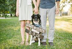 ¡Incluye a tu perro en el save-the-date de tu boda!
