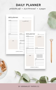 Daily Planner Productivity Insert, Daily Planner Pages, Productivity Planner, Student Planner - A5 & Personal Size For Individual Who Loves Minimalistic And Clean Design, Instant Download! #dailyplanner #productivityplanner #dailyagenda #dailyschedule #etsyplanners  #dailyinserts #dailyprintable Planner Template, Printable Planner, Printables, Planner Dividers, Planner Inserts, Cute Planner, Planner Ideas, Daily Printable, Daily Agenda
