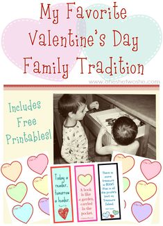 My kids LOVE Valentine's Day at our house and it's all because of this Valentine's Day Family Tradition that we do. Check it out and get the free printables too!