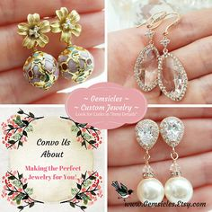 Citrine Earrings Topaz Crystal Earrings Yellow Rhinestone