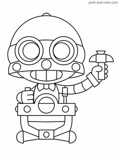 There are many high quality Brawl Stars coloring pages for your kids - printable free in one click. Star Pictures, Colorful Pictures, New Pictures, Beautiful Pictures, Nerdy Gifts For Him, Blow Stars, Star Coloring Pages, Fanart, Star Party