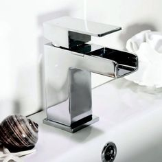 Create a mini waterfall in your bathroom with this stylish and contemporary tap. Makes a mundane task a thing of beauty. http://www.victorianplumbing.co.uk/Waterfall-Mono-Basin-Mixer-with-Push-Waste-Chrome.aspx