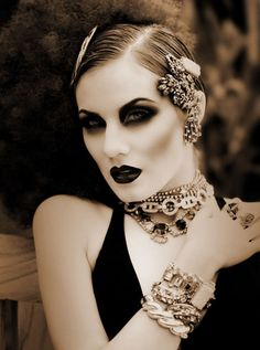 goth spin on 20's makeup| Be inspirational ❥|Mz. Manerz: Being well dressed is a beautiful form of confidence, happiness & politeness