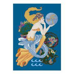Celtic A for Aquarius Mermaid