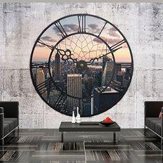 """Fotomural de un reloj con vistas a New York - http://vinilos.info/producto/fotomural-reloj-vistas-new-york/  Colores bonitos, vistosos. Fotomural resistente a la luz, humedad. Disponemos de varios tamaños, por favor consultar medidas antes de comprar el fotomural. Fácil instalación, no se despega, calidad de productos excelentes.[amz_corss_sell asin=""""B00KMVWKO6″]   #decoracion"""