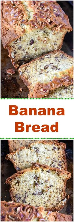 This super Moist Banana Bread recipe makes the best banana bread you will ever try. The sour cream, very ripe mashed bananas, and Texas pecans make the difference.