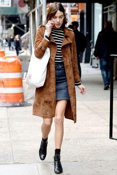 Alexa Chung suede coat