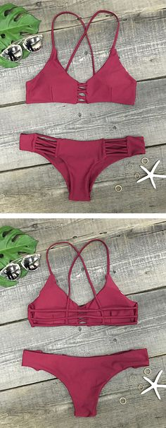 This stunning bikini will have all eyes turned your way on the beach. High cut bottoms show off tanned legs to perfection.The weather might be unbearable, but you'll still be loving summer if you wear this on beach.