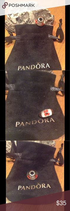 Pandora flower murano charm This is a flower authentic Pandora charm.. I've forgotten the name of this. The charm is in practically new condition I've worn it one time. I'm slimming my collection down I have too many I no longer wear.. Thx for looking Pandora Jewelry