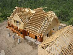 Cum se face un acoperiș? Pole Barn House Plans, Pole Barn Homes, Dream House Plans, Style At Home, Roof Styles, House Styles, Roof Truss Design, Framing Construction, Building A Container Home