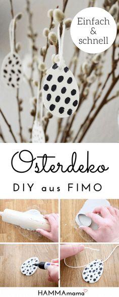 DIY-Idee für skandinavische Oster-Deko_Ostereier zum Aufhängen aus Fimo selber machen