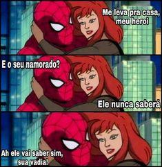 Dc Memes, Jojo Memes, Funny Memes, Marvel Vs, Marvel Memes, Little Memes, Cool Cartoons, Fujoshi, Spiderman