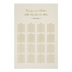 Seating Chart  Tables  Guest Blue Black Damask Poster