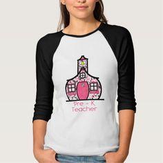Pre K Teacher Paint Splatter Schoolhouse T Shirt, Hoodie Sweatshirt