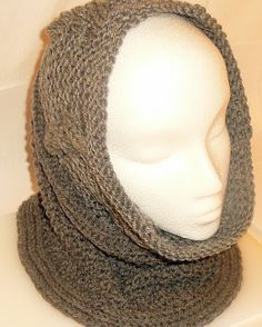 Hey, I found this really awesome Etsy listing at https://www.etsy.com/listing/173748589/gray-hand-knitted-cowl-scarf-neck-warmer