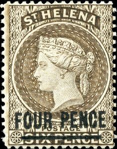 1890 Scott 38 on pale brown Quick History St Helena (named after Saint Helena of Constantinople by the Portuguese in is loc. Colonial, Crown Colony, St Helena, Vintage Stamps, Anglo Saxon, Penny Black, King George, Stamp Collecting, Vintage World Maps