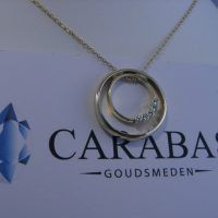 Washer Necklace, Gold Necklace, Pendant Necklace, Om, Gold Pendant Necklace, Drop Necklace