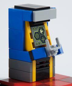 Video Arcade - One Billion Lego Bricks - Lego Pokemon, Lego Games, Lego Toys, Lego Design, Lego Furniture, Minecraft Furniture, Construction Lego, Lego Videos, Micro Lego
