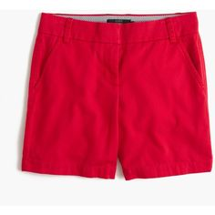 "J.Crew 7"" Chino Short ($53) ❤ liked on Polyvore featuring shorts, long shorts, shiny shorts, rainbow shorts, chino shorts and j.crew"