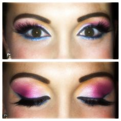 Pink on top, blue on the bottom :) One of my favorites