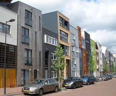 In the Amsterdam suburb IJburg, narrow, individual parcels are sold and the residents then design their own house, with some interesting results
