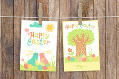 This exclusive freebie is a set of two postcards from the Happy Easter Festive Bundle. The Happy Easter full bundle can be downloaded on Creative Market includes vector elements for creating such cards and much more like stickers, gift tags, invitations, packaging, paper products, web design and blogs.  Don't forget to check out the full set of over 100 clip art elements and 4 ready-to-use Easter cards on Creative Market. SCREENSHOTS