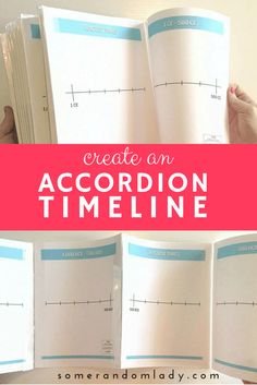 How to create an accordion timeline or book of centuries that folds flat. Click through for video tutorial and written instructions. Don't miss the 56 page PDF GIVEAWAY at the end of the post.