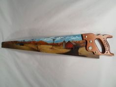 Painted saws | Hand painted landscape saw