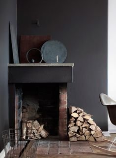 Artful fireplace