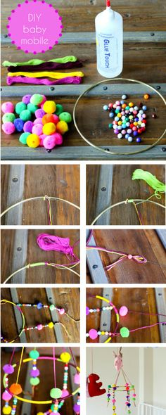 DIY baby mobile // Sunday in color
