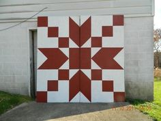 barn + quilt (I want to use this pattern to paint a block for my house.)