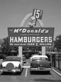 Black and White photography - vintage McDonald's