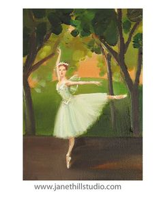 Enchanted Dancer: In La Sylphide The Forest by janethillstudio