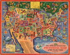 Disney Map, 1960s