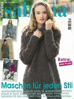 "Photo from album ""Sabrina on Yandex. Knitting Books, Crochet Books, Knitting Stitches, Knit Crochet, Knitting Magazine, Crochet Magazine, Trends, Pattern Books, Pull"