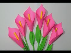 How to make lily paper flower Easy Origami making