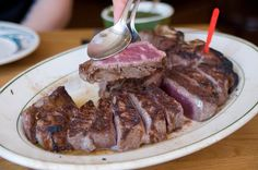 The Porterhouse for two, Peter Luger, Brooklyn, NY  I loved eating there high price high quality food.   I ate at the Brooklyn one