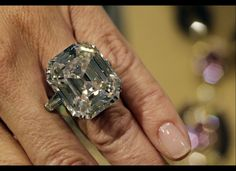 The Elizabeth Taylor Diamond.  33.19 carat, asscher cut in platinum.