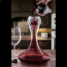 Trevi Aerating Wine Decanter, from HomeWetBar.com I want one!! and it's for a fairly good price as well
