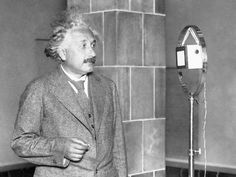 Albert Einstein: Albert Einstein congratulates Thomas Edison over a shortwave telephone from Germany, during a celebratory dinner held in the United States for the 50th anniversary of the invention of the electric bulb. (Photo:  Bettmann/CORBIS)