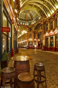 Leadenhall Market, London, England by john f Murphy (LW13-5)