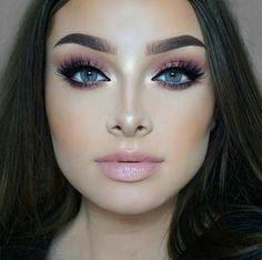 Gorgeous Makeup: Tips and Tricks With Eye Makeup and Eyeshadow – Makeup Design Ideas Rose Gold Makeup Looks, Pink Makeup, Blue Eye Makeup, Smokey Eye Makeup, Gorgeous Makeup, Love Makeup, Makeup Style, Pink Eyeshadow, Fresh Makeup