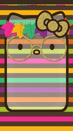 Iphone 6 Wallpaper, Cartoon Wallpaper, Wallpaper Quotes, Wallpaper Backgrounds, Hello Kitty Backgrounds, Hello Kitty Wallpaper, Holiday Wallpaper, Fall Wallpaper, Hello Kitty Pictures