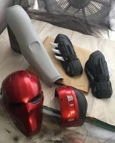 DarkKnightFX is a home based prop shop specializing in custom cosplay props and accessories. Our main focus is on DC Comics, Movie and Game characters. Red Hood Costume, Red Hood Cosplay, Dc Cosplay, Cosplay Armor, Cosplay Outfits, Cosplay Costumes, Cosplay Store, Red Hood Helmet, Womens Motorcycle Helmets