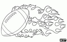 Ball of American football coloring page - Daily Sports News & Live Stream Fotball Channel Football Locker Signs, Football Banner, Football Players, Football Cheerleading, Football Moms, Football Crafts, Football Program, Adult Coloring Pages, Free Coloring