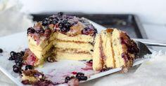 Vegan Chickpea Flour Pancakes | oil-free, grain-free, so easy!