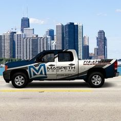 Car, truck or van wrap for Maspeth Roofing by syns&graphix